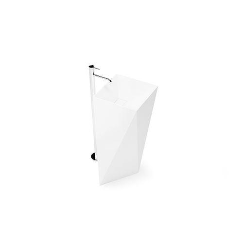 vasque sur pied / en Solid Surface / en résine / contemporaine