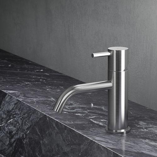 mitigeur pour vasque / en inox / 1 trou
