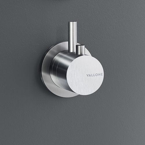 mitigeur de douche / pour baignoire / mural / en inox