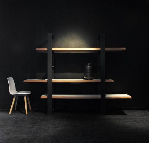 étagère contemporaine / en bois / en acier