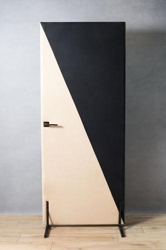habillage de porte en cuir / en tissu / sur mesure