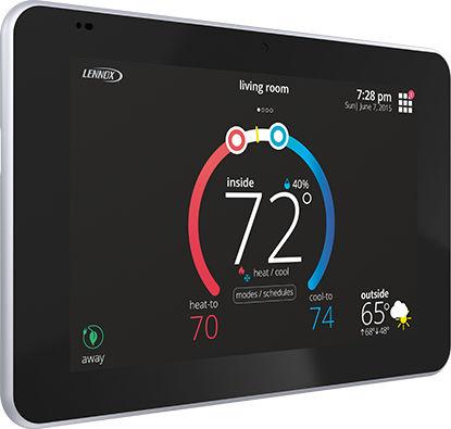 thermostat programmable / mural / pour chauffage / à écran tactile