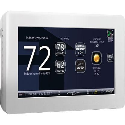 thermostat d'ambiance / mural / pour chauffage / sans fil