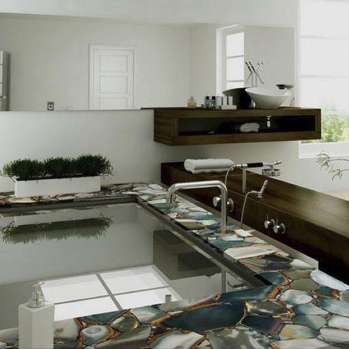 plan de travail en marbre / de cuisine