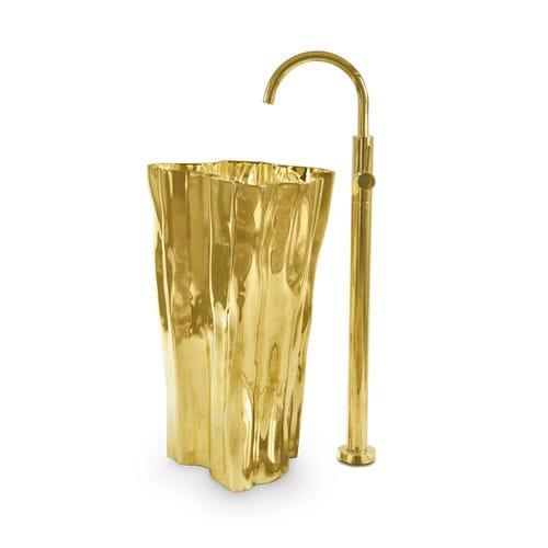 vasque sur pied / en laiton / design original