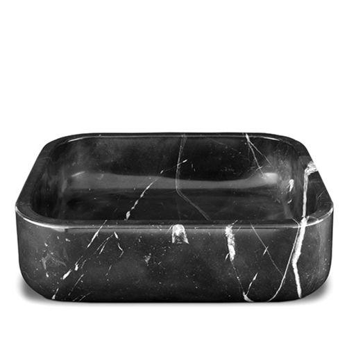 vasque à poser / rectangulaire / en marbre / contemporaine