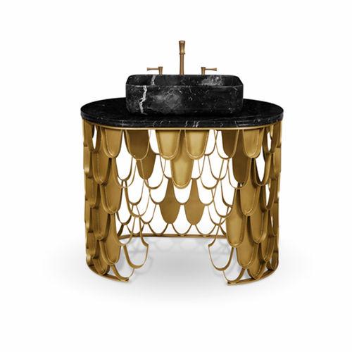 vasque sur pied / en laiton / design original / professionnelle