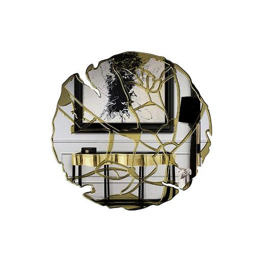 miroir TV mural / design original / rond / professionnel