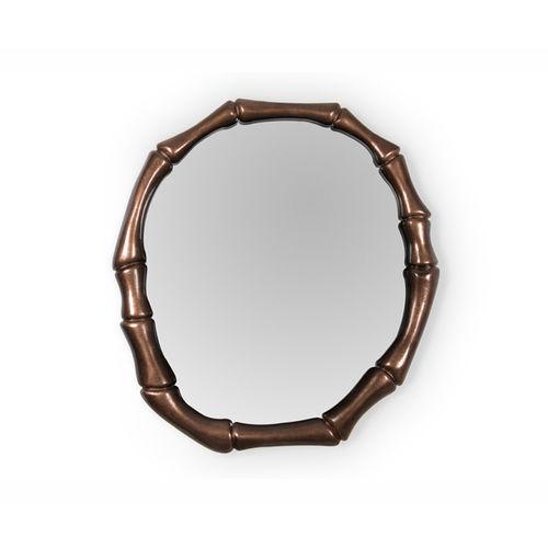 miroir mural / contemporain / rond / en cuivre