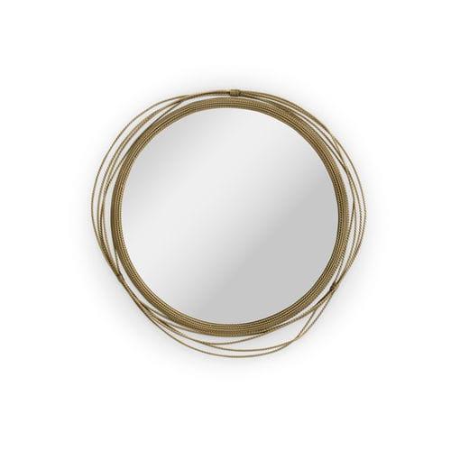 miroir mural / contemporain / rond / professionnel