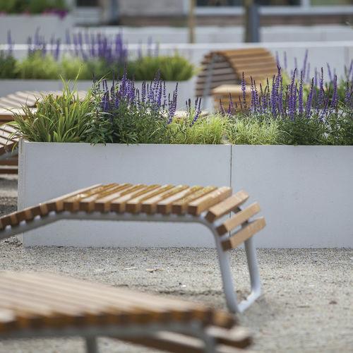 jardinière en béton / rectangulaire / contemporaine / pour espace public