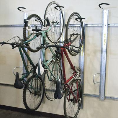 range-vélo mural / en acier / en acier galvanisé