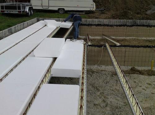 plancher poutrelles-hourdis / acier / en béton / entrevous en polystyrène