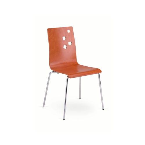 chaise de restaurant contemporaine / avec accoudoirs / empilable / en laine