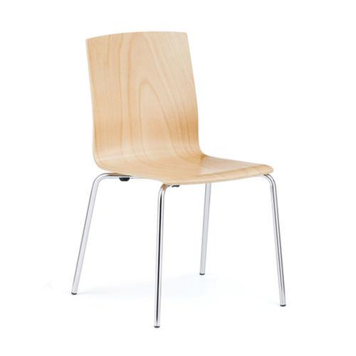 chaise de conférence à tablette / empilable / luge / cantilever
