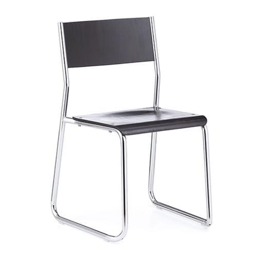 chaise de conférence empilable / tapissée / luge / en hêtre