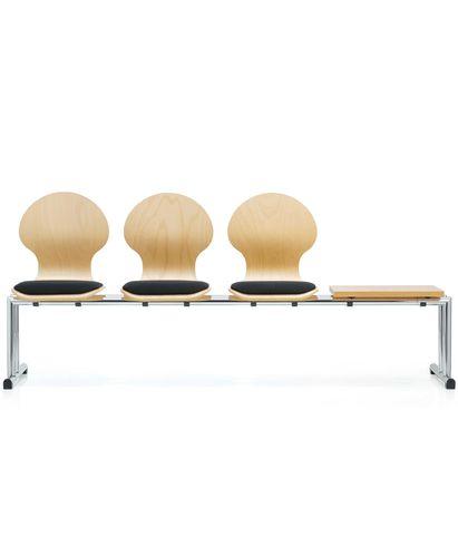 sièges sur poutre en cuir / en métal / 3 places