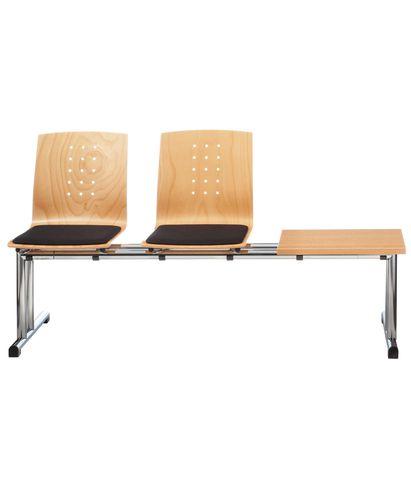 sièges sur poutre en cuir / en métal / 2 places