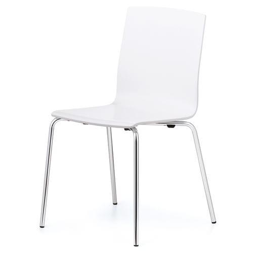 chaise de conférence contemporaine / cantilever / avec accoudoirs / tapissée