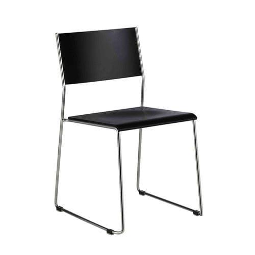 chaise de conférence contemporaine / tapissée / avec accoudoirs / luge