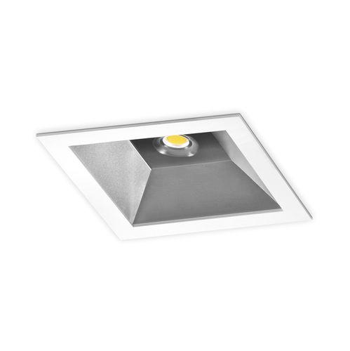downlight encastré / à LED / carré / en tôle d'acier