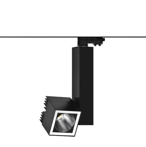 éclairage sur rail à LED / carré / rectangulaire / en aluminium extrudé