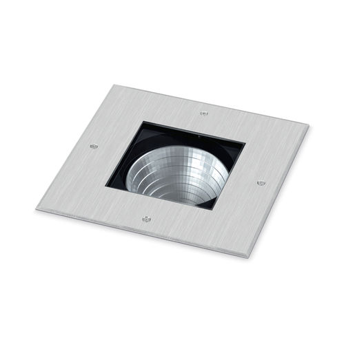 luminaire encastrable au sol / à LED / carré / d'extérieur