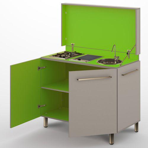 cuisine contemporaine / en stratifié / compacte / de jardin