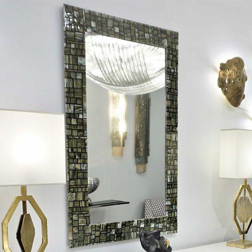 miroir mural / contemporain / rectangulaire / en verre de Murano
