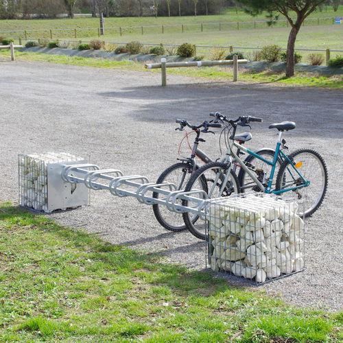 Gabion pour agencement extérieur / en acier galvanisé / avec range-vélo intégré 1X6 PLACE ID GABION - L'AGENCE URBAINE