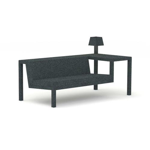 canapé design original / bois / en acier / en mousse