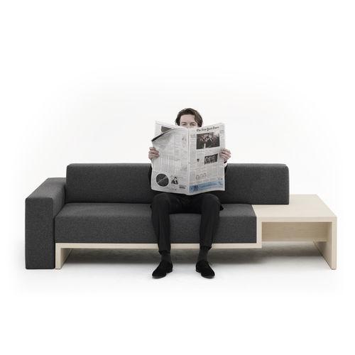 canapé modulable / contemporain / en tissu / contreplaqué
