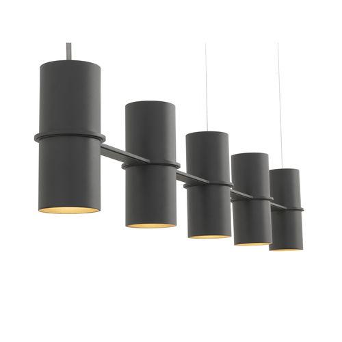 suspension / contemporaine / en acier à revêtement par poudre / noire