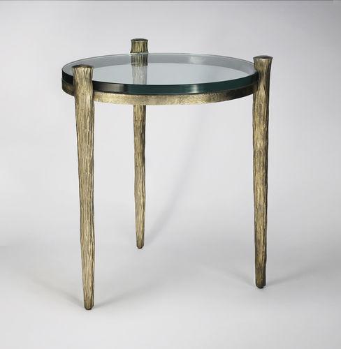 Table d'appoint classique / en verre / en fer / en fer forgé OFFRANDE  Mobilier De Style