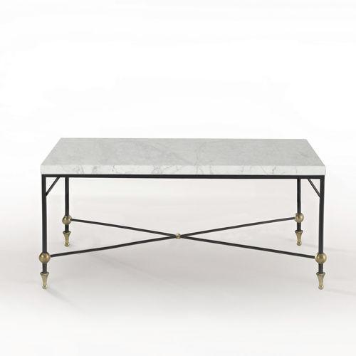 Table basse classique / en verre / en laiton / en fer BARON Mobilier De Style