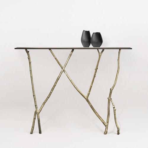 Console design organique / en verre / en bronze / en cuir BRANCHE Mobilier De Style