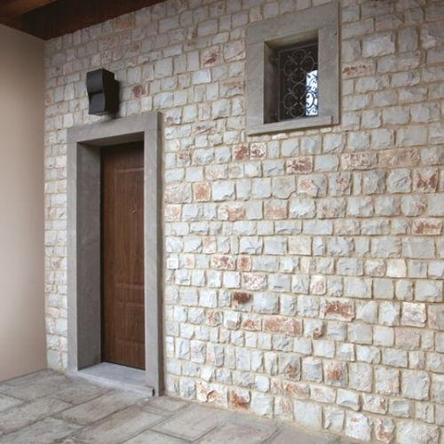 Parement en pierre naturelle / d'extérieur / d'intérieur / 3D COVER WHITE Marmotex SRL