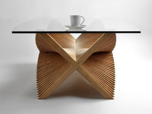 Table basse / contemporaine / en bois / rectangulaire BEATING WINGS David Tragen