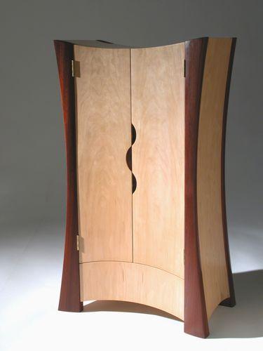 Armoire design original / en bois / avec porte battante FIRELAND FLOW BUTSUDAN David Tragen
