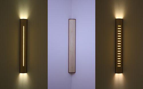 Applique murale contemporaine / en bois / à LED / linéaire SKYSCRAPER  David Tragen