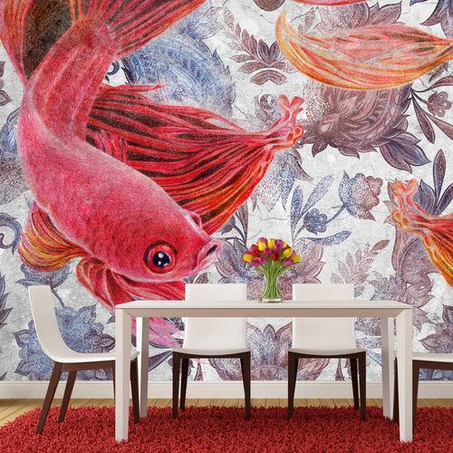 Papiers peints contemporains / en tissu / en vinyle / à motifs floraux EAST OF NO WEST Skinwall