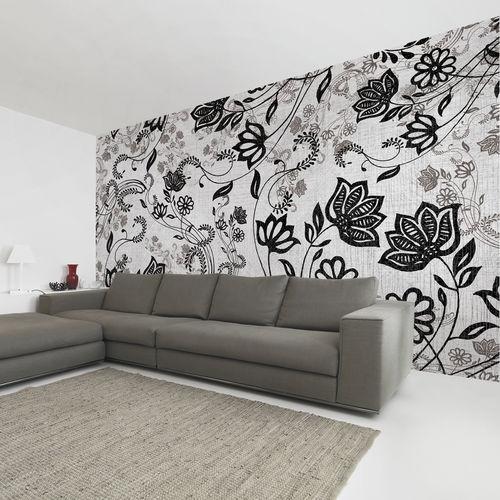 papier peint contemporain / en tissu / en vinyle / motif floral