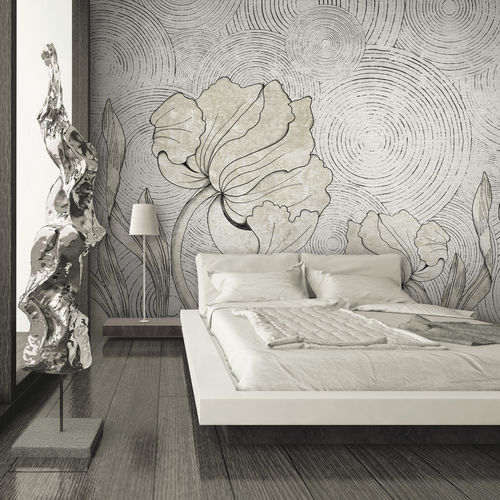 Papiers peints contemporains / en tissu / en vinyle / motifs floraux IN BLOOM Skinwall