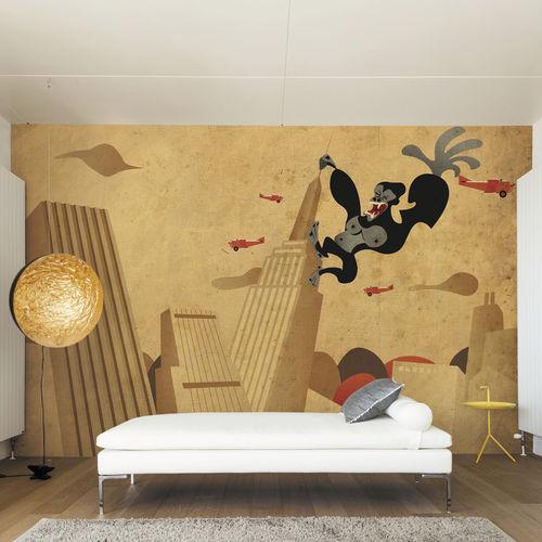 Papiers peints contemporains / en tissu / en vinyle / motifs animaliers KING KONG Skinwall