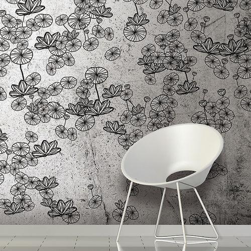 Papiers peints contemporains / en tissu / en vinyle / à motifs floraux LOTUS Skinwall