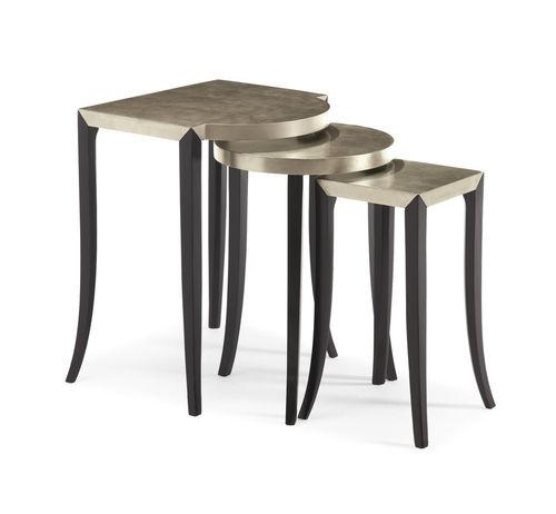 table gigogne classique / en plaqué bois / en bois de feuillus / rectangulaire
