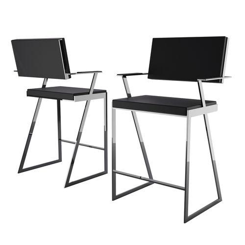 chaise de bar contemporaine / tapissée / avec repose-pieds / avec accoudoirs