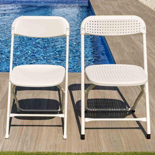 chaise contemporaine / empilable / pliante / en acier