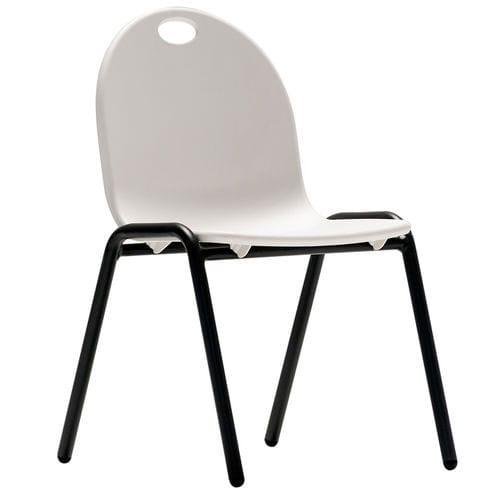 chaise contemporaine / empilable / pour enfant / en acier peint