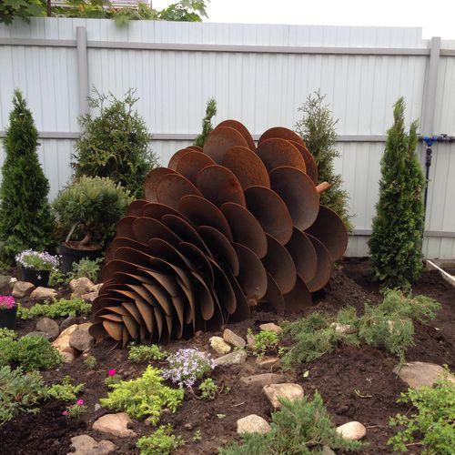 sculpture en acier corten / d'extérieur / pour espace public